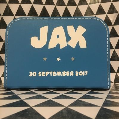 Koffertje met naam & geboortedatum