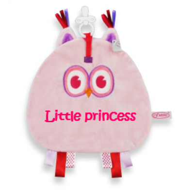 "Speendoek Uil ""Little princess"""