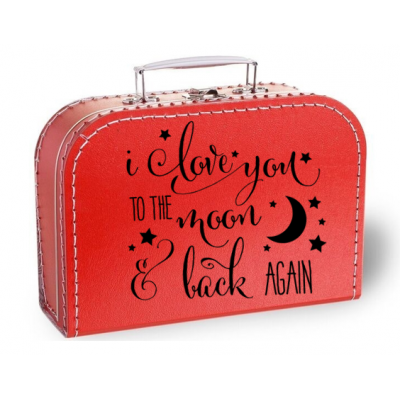 "Koffertje ""I love you to the moon and back again"""