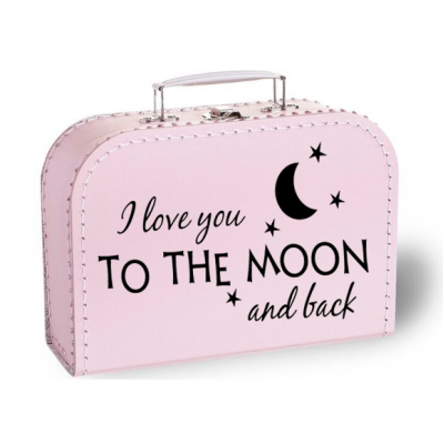 "Koffertje ""I love you to the moon and back"""