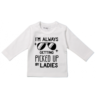 "T-shirt  ""Picked up by ladies"""