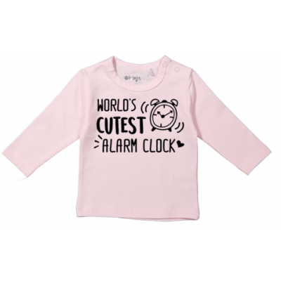 "T-shirt  ""Worlds cutest alarm clock"""