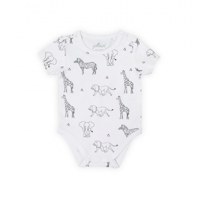 Romper korte mouw Safari black white