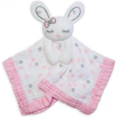 Lulujo Knuffeldoekje Pink Bunny