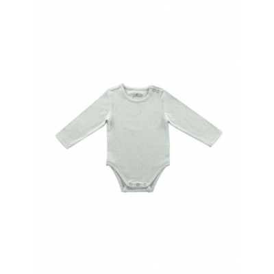 Romper lange mouw Mini dots soft grey